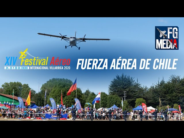 Festival Aéreo de Villarrica 2020: Fuerza Aérea de Chile (Boinas Azules, Bell 412, Twin Otter)