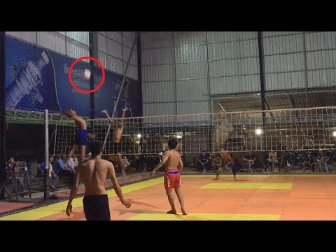 Amazing Cambodia Volleyball Match, Top 2 Player Team( 2 Vs 3) 2 wine Part#142