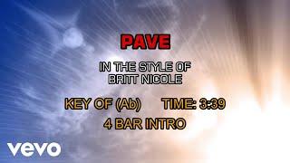 Britt Nicole - Pave (Karaoke)