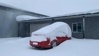 RARE Major Winter Storm DUMPS SNOW On Cut Bank, Montana on Sunday Day 2