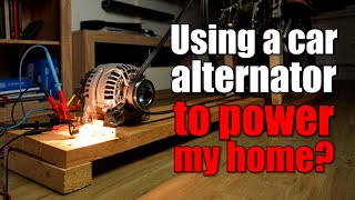 Using a car alternator with a bike to power my home? How much energy can I produce?!