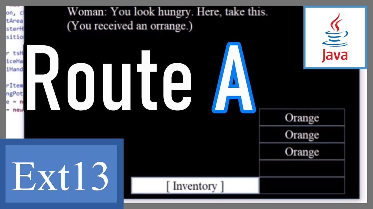 Create Inventory (2/3) - Route A - Array, while loop, argument - Java Game  Development Extra 13