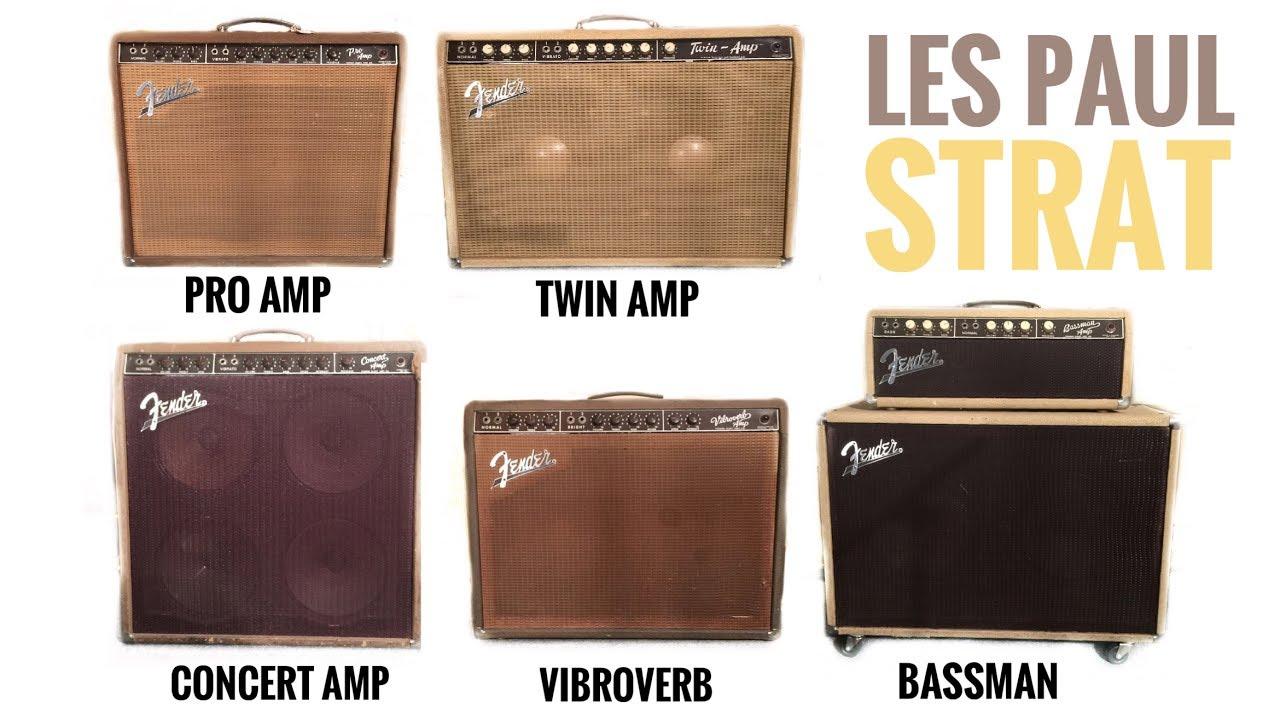 5 Classic BROWNFACE Fender Amps COMPARISON