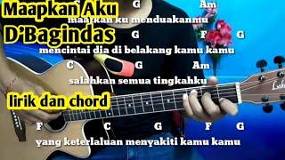 Kunci Gitar D'Bagindas Maapkan Aku - Tutoroal Gitar By Darmawan Gitar
