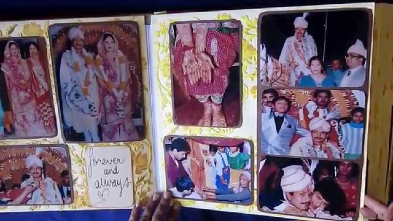 How to scrapbook wedding album - Handmade Album Ideas For Personal Photos 25th Wedding Anniversary Of Vandana Sanjay Youtube