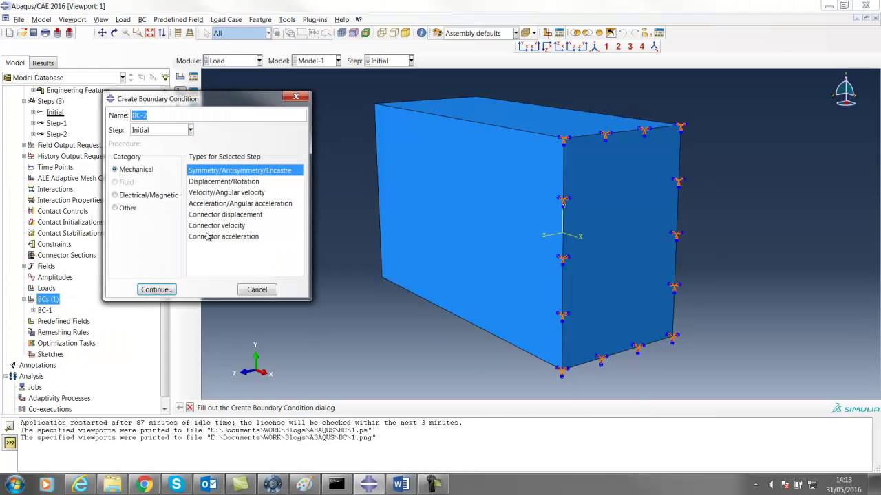 Applying Boundary Conditions in Abaqus/CAE (Part 1)