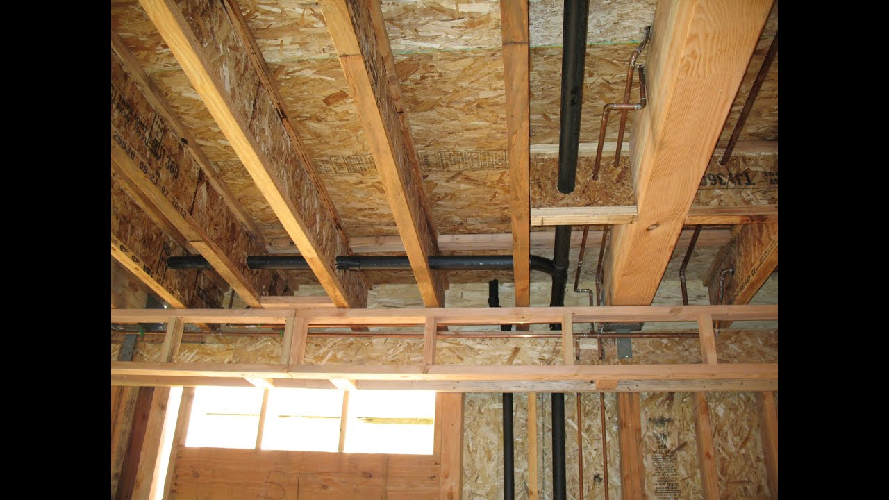 How to structurally support load bearing walls truss for How to frame a two story house