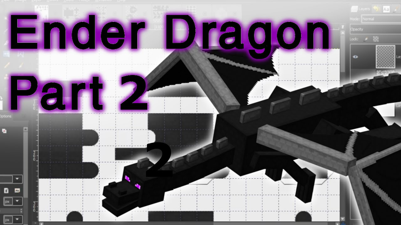 Designing The Bendable Ender Dragon Papercraft Template Part 2