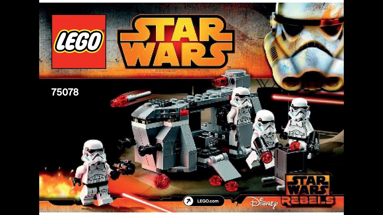 LEGO 75078 Imperial Troop Transport Instructions LEGO STAR WARS 2015 Battle  Pack