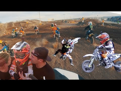 SEVEN-YEAR-OLD KID'S FIRST DIRT BIKE RACE | FIRST TIME RACING MOTOCROSS