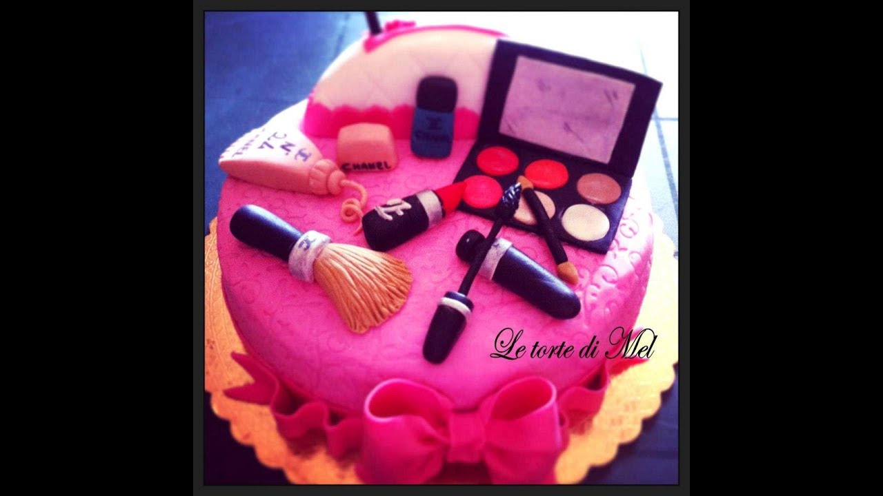 HOW TO MAKE A MAKE UP CAKE! - YouTube