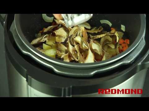 Суп грибной в мультиварке-скороварке REDMOND RMC-M4504