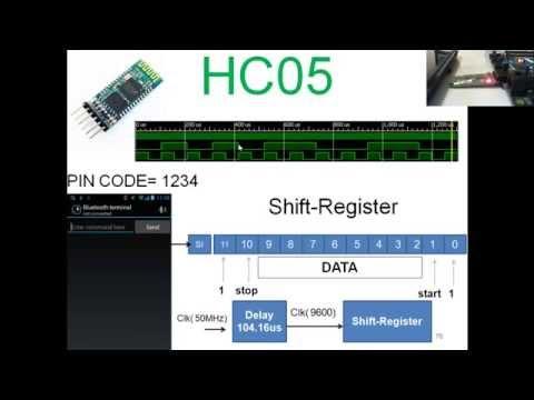 FPGA comunicación RS-232  con el modulo Bluetooth HC05 usando Verilog