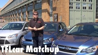 2015 VW Golf Mk7 vs Ford focus vs Subaru Impreza Matchup Review