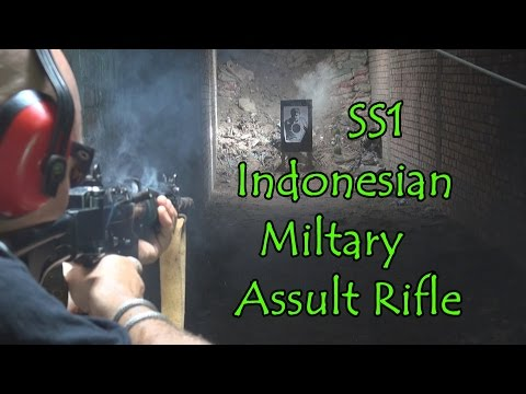 SS1 Indonesian Military Assault rifle test fire & review