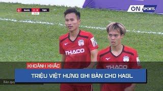 Minh Vương qua người cực dị giúp Triệu Việt Hưng ghi bàn ấn tượng cho HA. Gia Lai