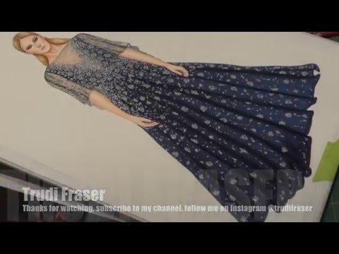 Marchesa, Fashion Illustration by Trudi Fraser