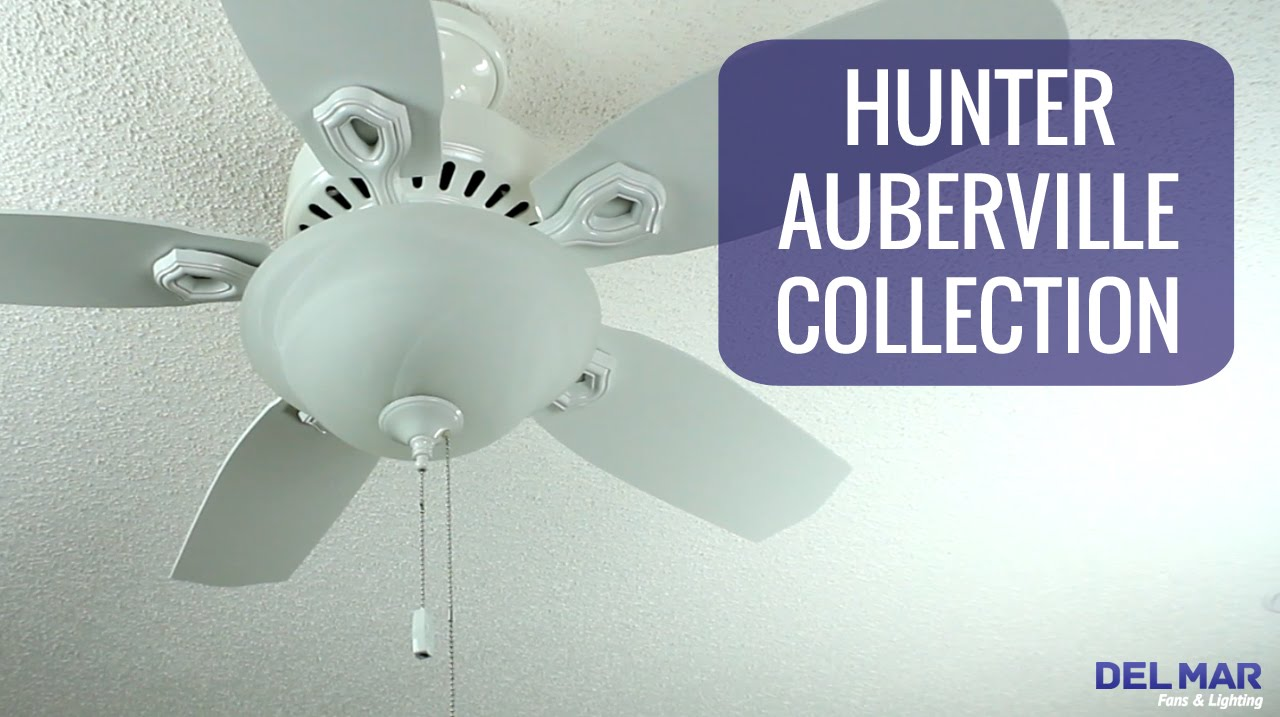 Delmar Ceiling Fans: Hunter Auberville Ceiling Fan Collection,Lighting