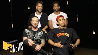 O-Town Reacts to Their Old Interviews & Teases New Music | MTV News