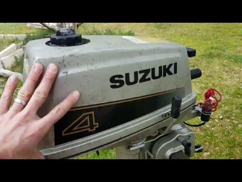"""1988 Suzuki DT4 4hp clogged """"tell-tale"""" water stream"""