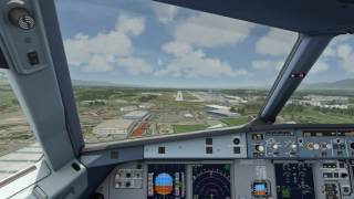 Cockpit A320 Landing at Geneva [Aerofly FS 2]