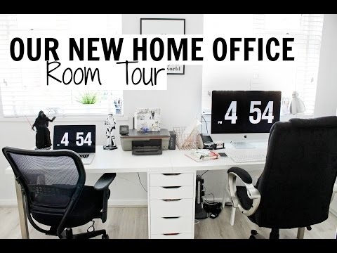 OUR NEW HOME OFFICE - ROOM TOUR | Alex Gladwin