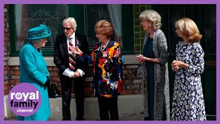 The Queen Meets Coronation Street Cast on Set in Manchester