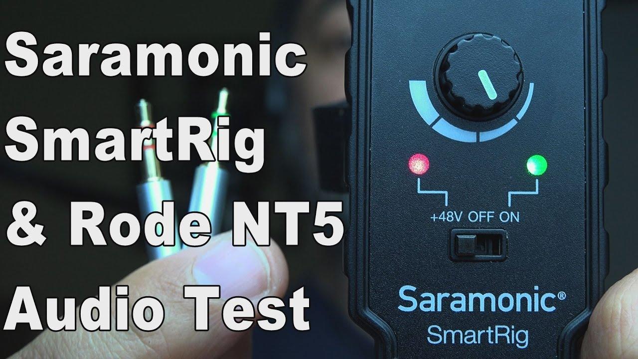 Saramonic Smartrig Cheap Xlr To 35mm Phantom Power Microphone Ecm Mic Preamplifier By Bc549 Preamp Rode Nt5 Dslr Vlogging