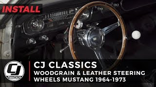 "Mustang Install: CJ Classics 14"" 9-Bolt 1965 GT350 Styled Woodgrain Steering Wheel Kit"