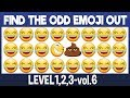 Find The Odd Emoji Out:3Levels1,2,3-vol6|Spot The Difference Emoji|Emoji Puzzle Quiz