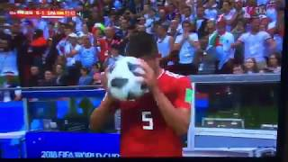 Iran Vs Spain Funny Last Minute Flip Gone Wrong!!!! FUNNY MOMENT FROM MILAD MOHAMMADI
