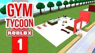 BUILDING MY OWN GYM - Roblox Gym Island #1