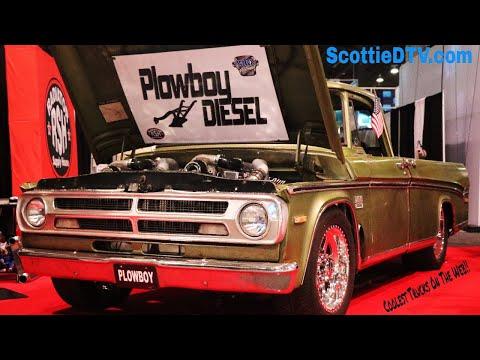 1970 Dodge Sweptline Pickup  Dual Cummins Diesel Engine 😮Plowboy Diesel The SEMA Show 2017