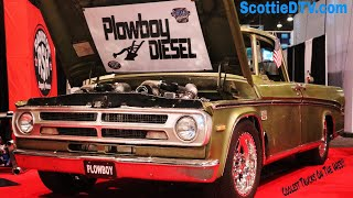 1970 Dodge Sweptline Pickup  Dual Cummins Diesel Engine 😮Plowboy Diesel The SEMA Show 2017