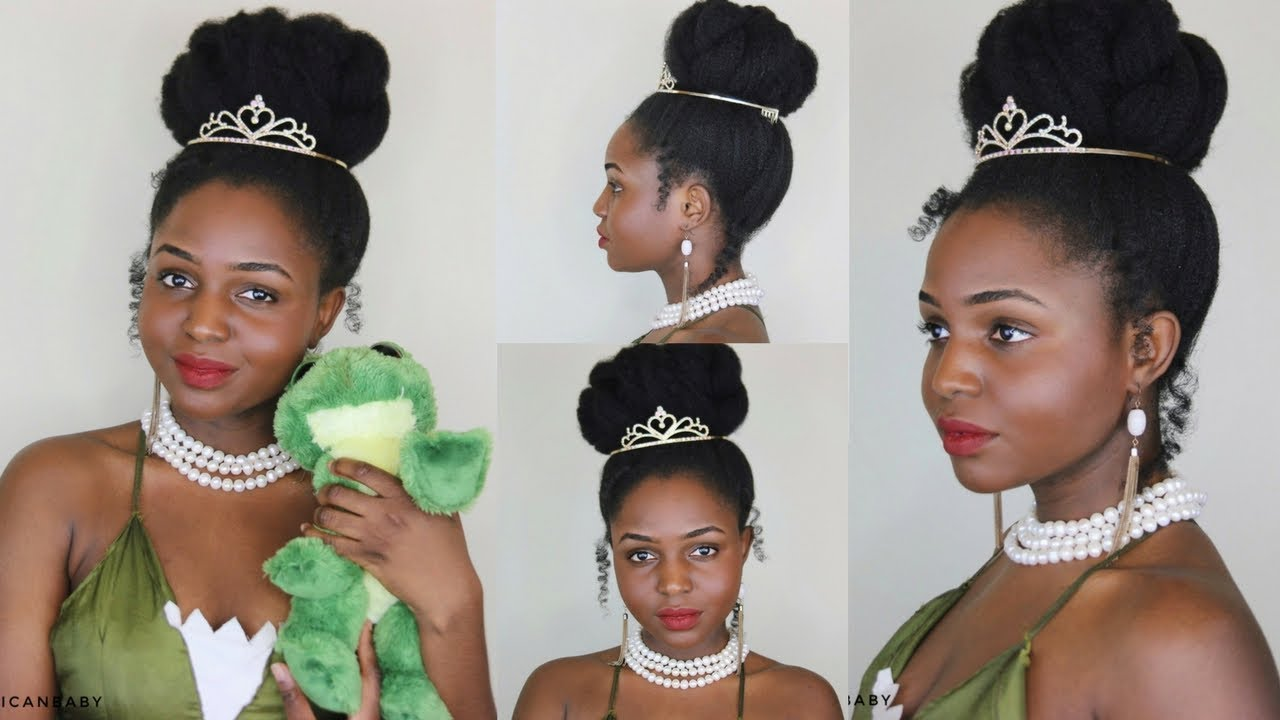 princess tiana inspired tutorial on 4c natural hair