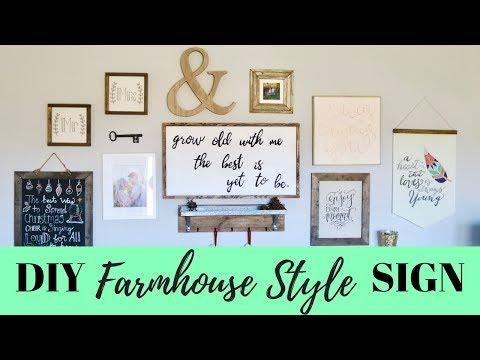DIY Framed Farmhouse Style Wood Sign | Sean & Brooke