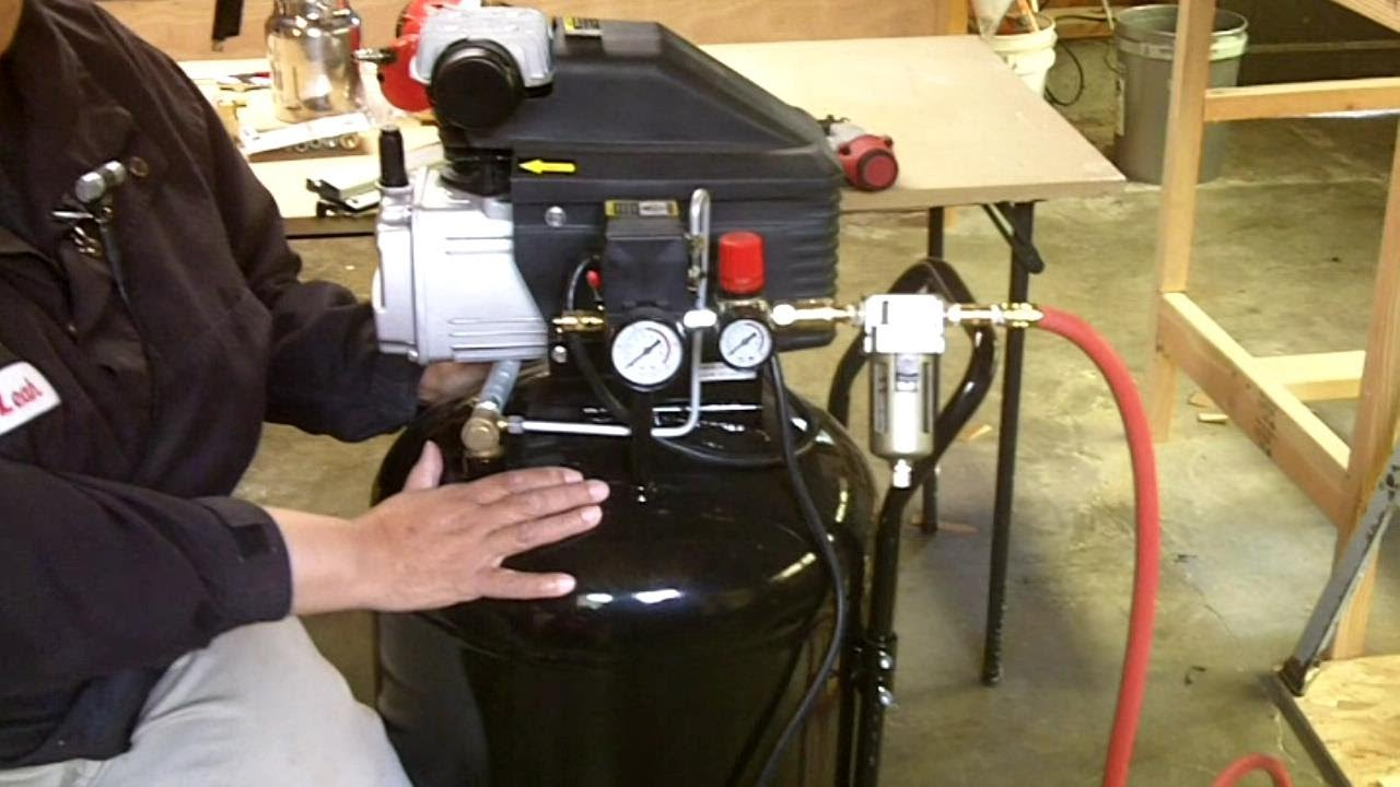 air compressor line setup and how to use air tools for beginners youtube [ 1280 x 720 Pixel ]