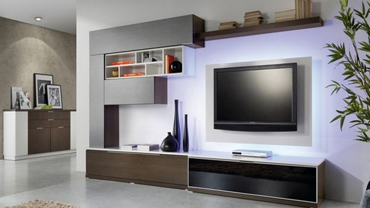 Tv Unit Designs For Living Room Taupe And Black Ideas Modern Cabinet Design Hall In India