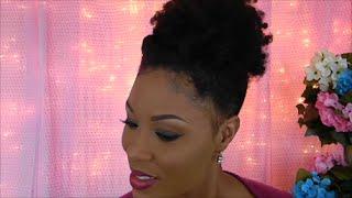 How To : Natural Hair Tutorial | Natural Hair Styles | Ideas For Medium Long Length Hair