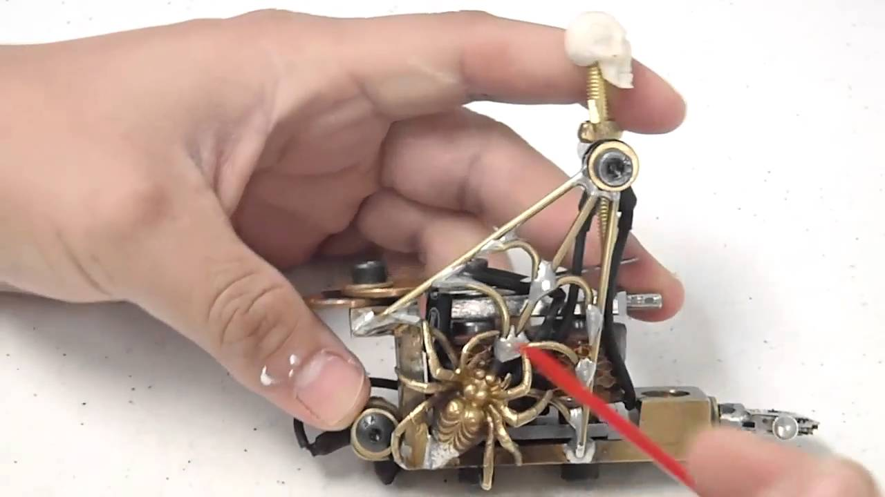 Building a custome tattoo machine part 3 youtube for How to make a home made tattoo machine