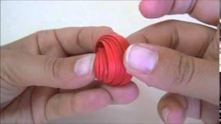 orecchini girandola rossi # quilling