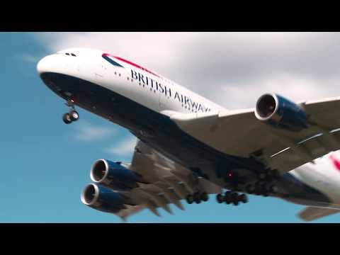 Airbus A380 Landing BA