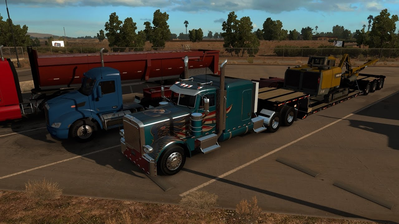 american truck simulator scs 389 wings of freedom truck skin