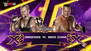WWE 2K15  Undertaker vs Brock lesnar 2016 pc