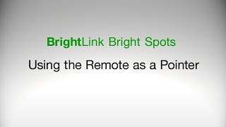 Epson BrightLink Projectors | How to Use the Remote Control as a Pointer
