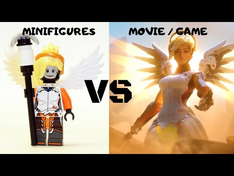 OVERWATCH Lego Minifigures VS Game/MOVIE Characters!