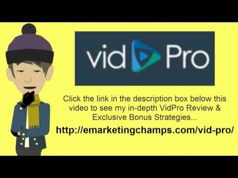 [VidPro Review] Honest Review & Bonus Strategies: (VidPro Review) See honest review of Vid Pro, learn how it works & discover BONUS strategies:  http://emarketingchamps.com/vid-pro/  ------- The Key to Continuous Growth and Expansion  Grow or die! This is one of the laws of nature that applies to all living things, which is why you can gain a lot of insights by reading a good vidpro review page. All business lives by this law as well. A business cannot begin, grow to a certain point and then simply remain at that point and continue to thrive.  Growth and expansion are necessary for the business to survive and if that growth and expansion do not happen then the business will fade and die or crash and burn.   Growth and expansion of business must be controlled by the business owners or managers. If growth is too slow, the business lags behind the competition. If growth is too fast, the business can easily become over extended.  A steady controlled growth is the ideal. Of course, the ideal and the reality are sometimes two very different things.   Sometimes the terms 'growth and expansion' are a bit misunderstood, so to be on the safe side create a quality vidpro bonus package. The most obvious meaning of both terms is to get bigger and broader but those meanings are not the only ones that apply.  Growth, for example, can mean gaining knowledge and becoming wiser and expansion can mean broadening the knowledge base from which a company operates.   A small internet based company does not have to grow and expand until it becomes a giant multi-national company in order to survive but the owners and managers of these internet businesses do have to grow by getting smarter and expand by welcoming change with open arms.   Nothing ever just stays the same. Change is the only certainty in the world. What was hot or what worked yesterday is old news today and it will be ancient history tomorrow.  Companies and company owners and managers must grow with and adapt to changes as th