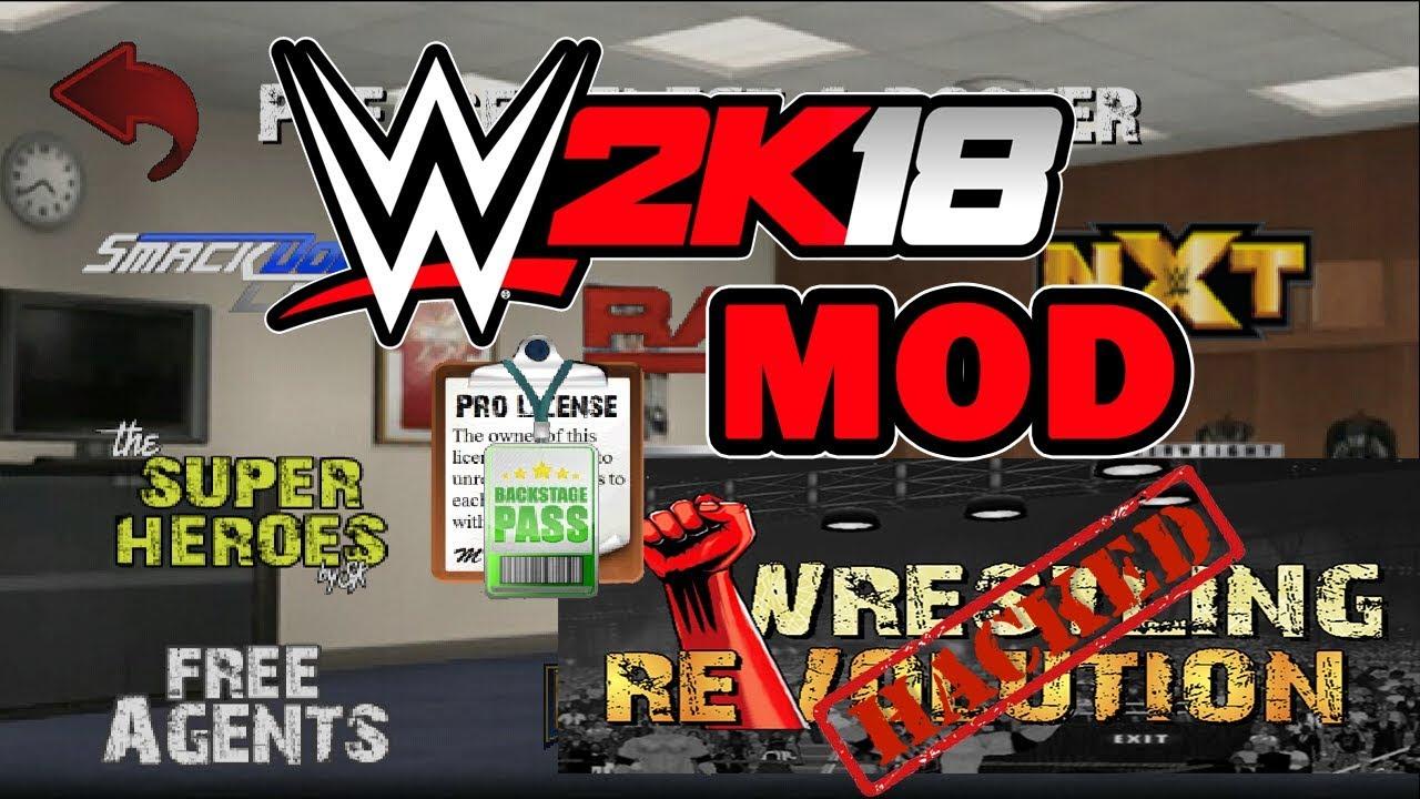 wrestling revolution 3d mod pro license apk