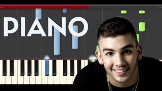 Manuel Turizo Dile La Verdad Jowell & Randy Piano Midi Tutorial Sheet App