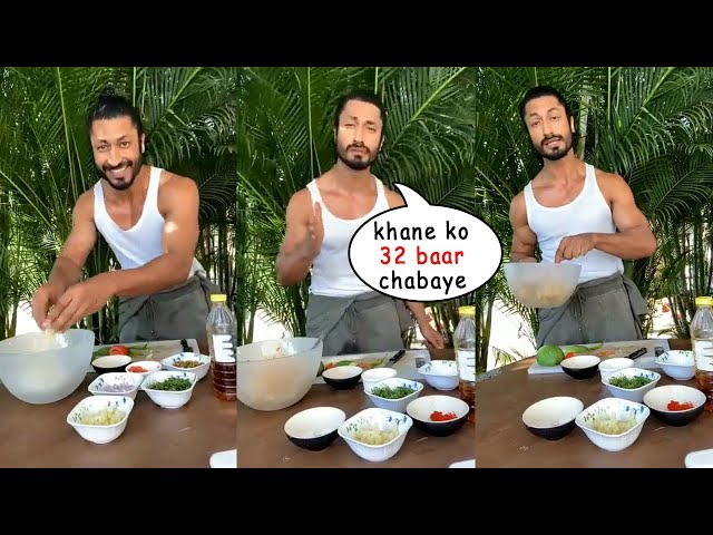 Bollywood Fittest Actor Vidyut Jammwal Reveals His Diet Plan on Camera